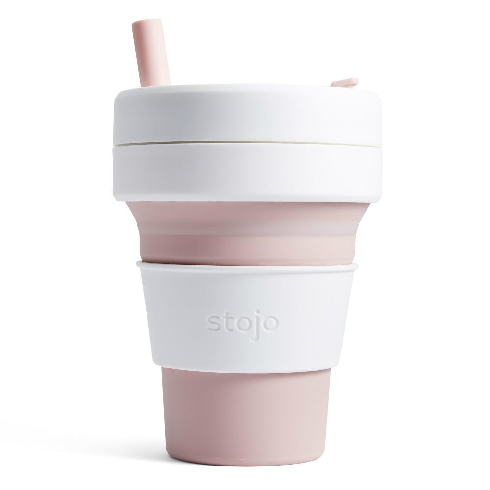 Stojo|折疊伸縮杯 16oz - 玫瑰粉