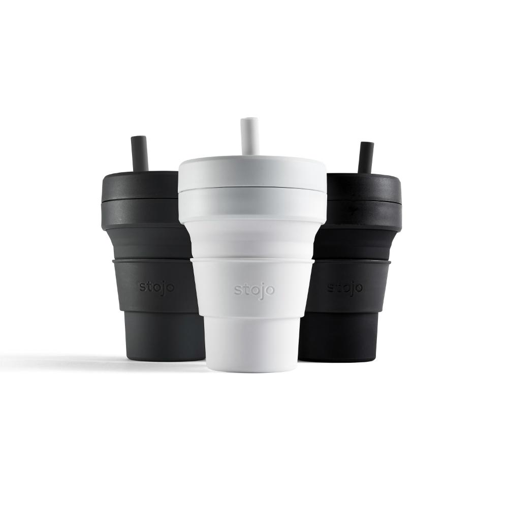 Stojo 折疊伸縮杯 16oz - 石墨黑(布魯克林限定版)