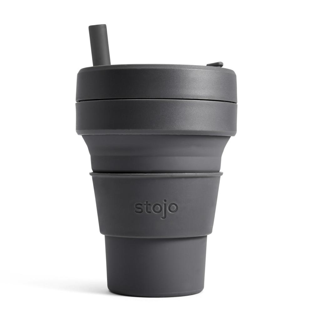 Stojo|折疊伸縮杯 16oz - 石炭灰(布魯克林限定版)