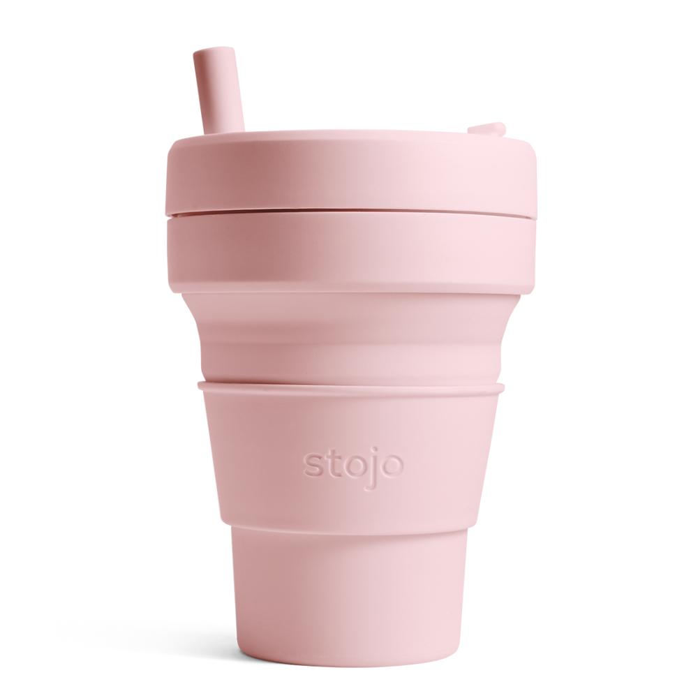 Stojo|折疊伸縮杯 16oz - 撫子粉(布魯克林限定版)
