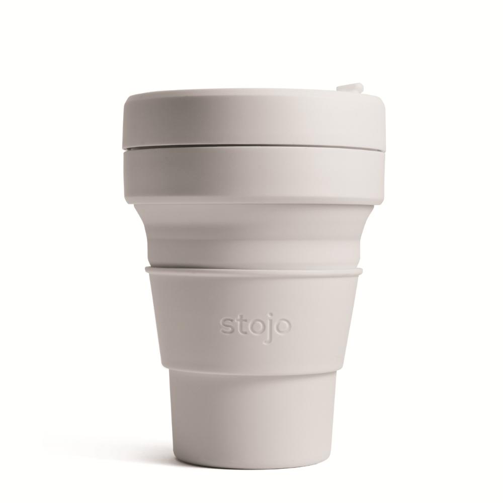 Stojo|折疊口袋杯 12oz - 羊絨灰(布魯克林限定版)