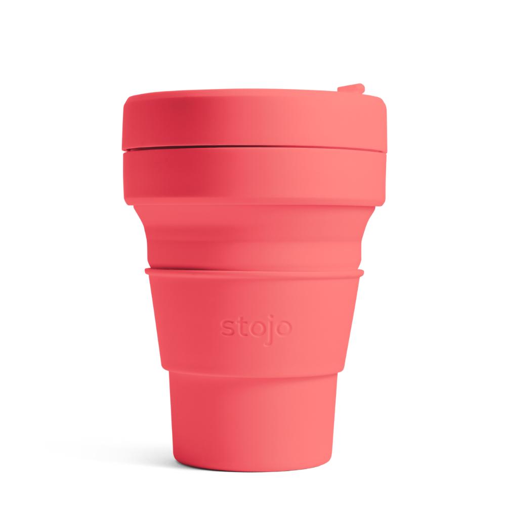 Stojo|折疊伸縮杯 16oz - 珊瑚紅(紐約Tribeca限定版)