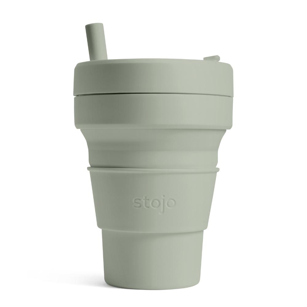 Stojo 折疊伸縮杯 16oz - 軍綠色(紐約Tribeca限定版)