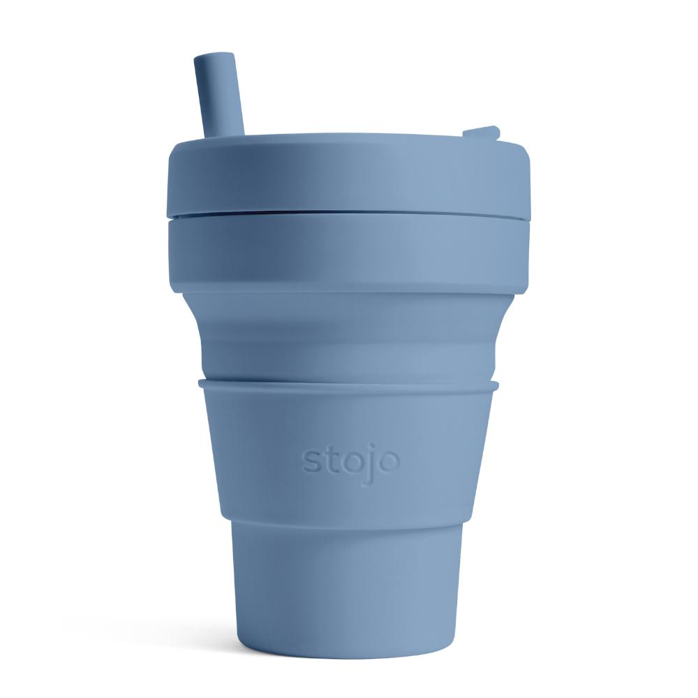 Stojo|折疊伸縮杯 16oz - 鋼鐵藍(紐約Tribeca限定版)