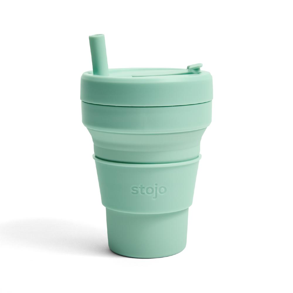 Stojo|折疊伸縮杯 16oz - 泡泡綠