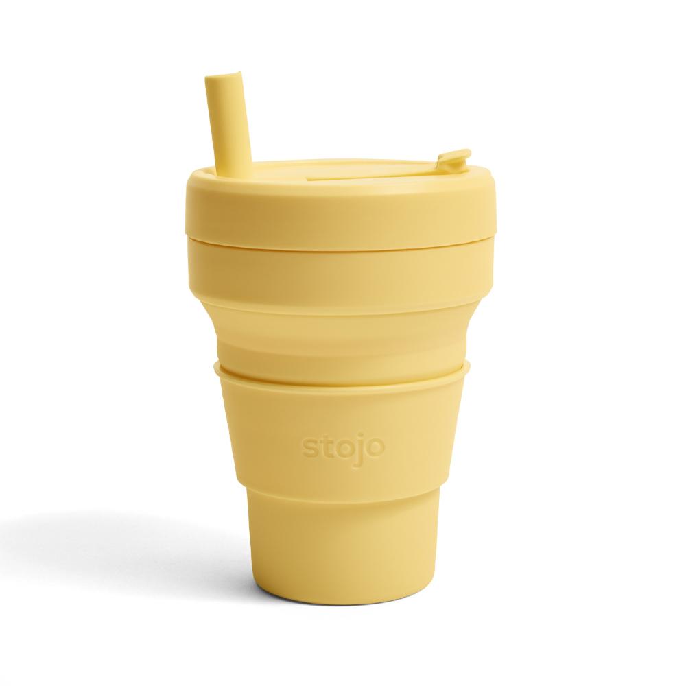 Stojo|折疊伸縮杯 16oz - 含羞草黃