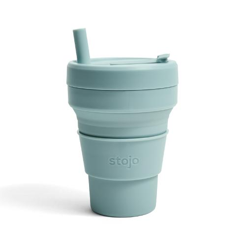Stojo|折疊伸縮杯 16oz - 海水藍