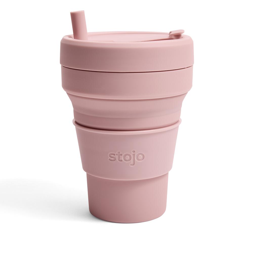 Stojo 折疊伸縮泰坦杯 24oz - 撫子粉(紐約Tribeca限定版)