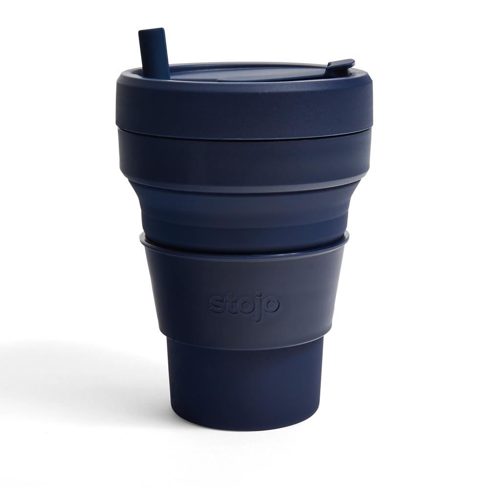 Stojo|折疊伸縮泰坦杯 24oz - 丹寧藍(紐約Tribeca限定版)