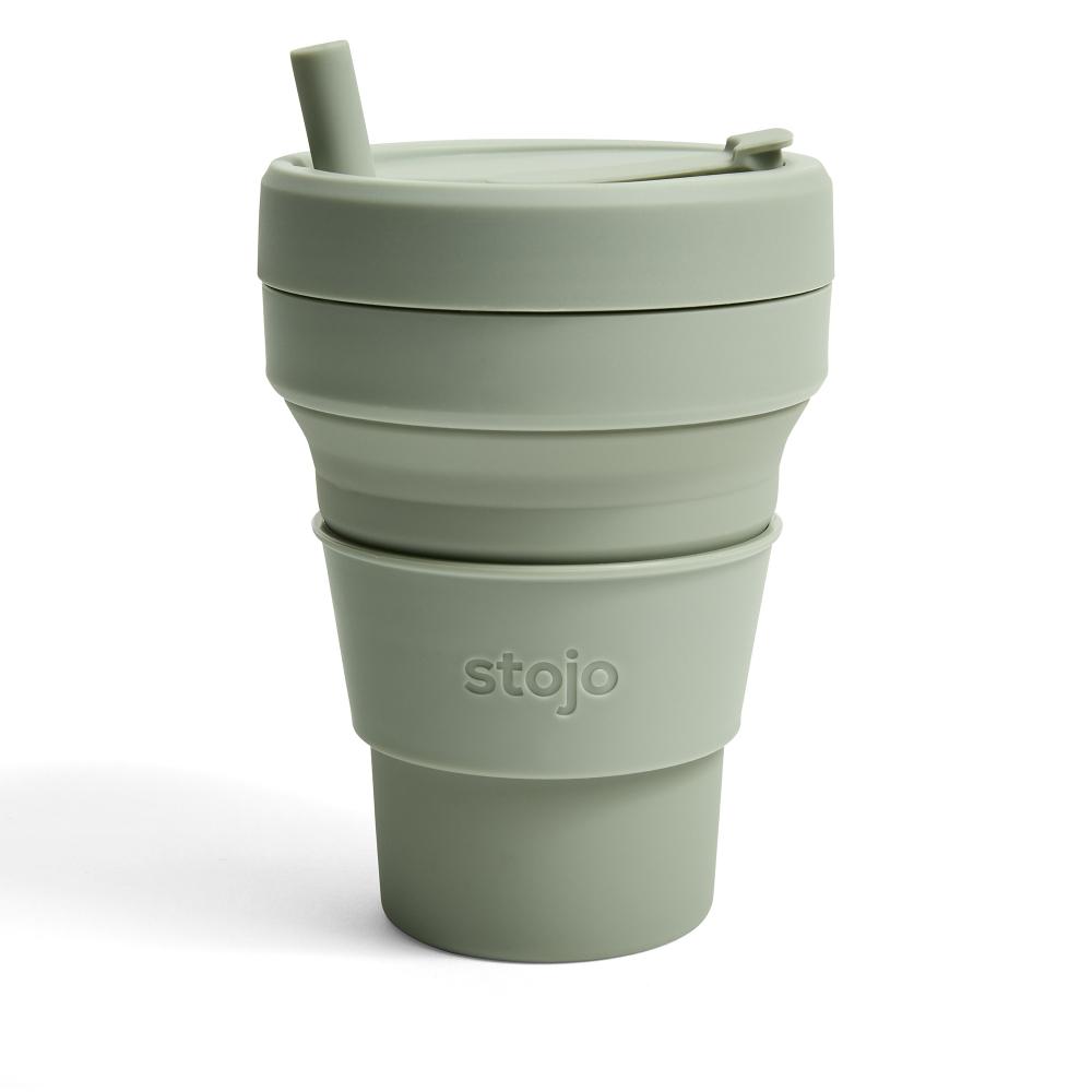 Stojo 折疊伸縮泰坦杯 24oz - 軍綠色(紐約Soho限定版)