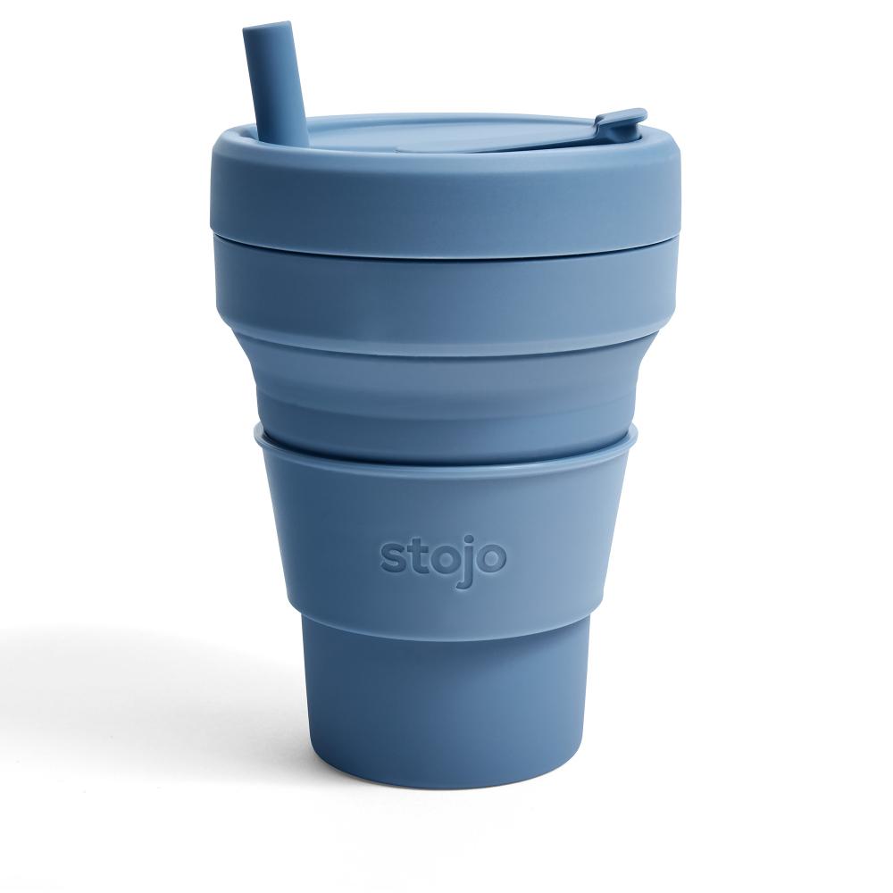 Stojo|折疊伸縮泰坦杯 24oz - 鋼鐵藍(紐約Soho限定版)