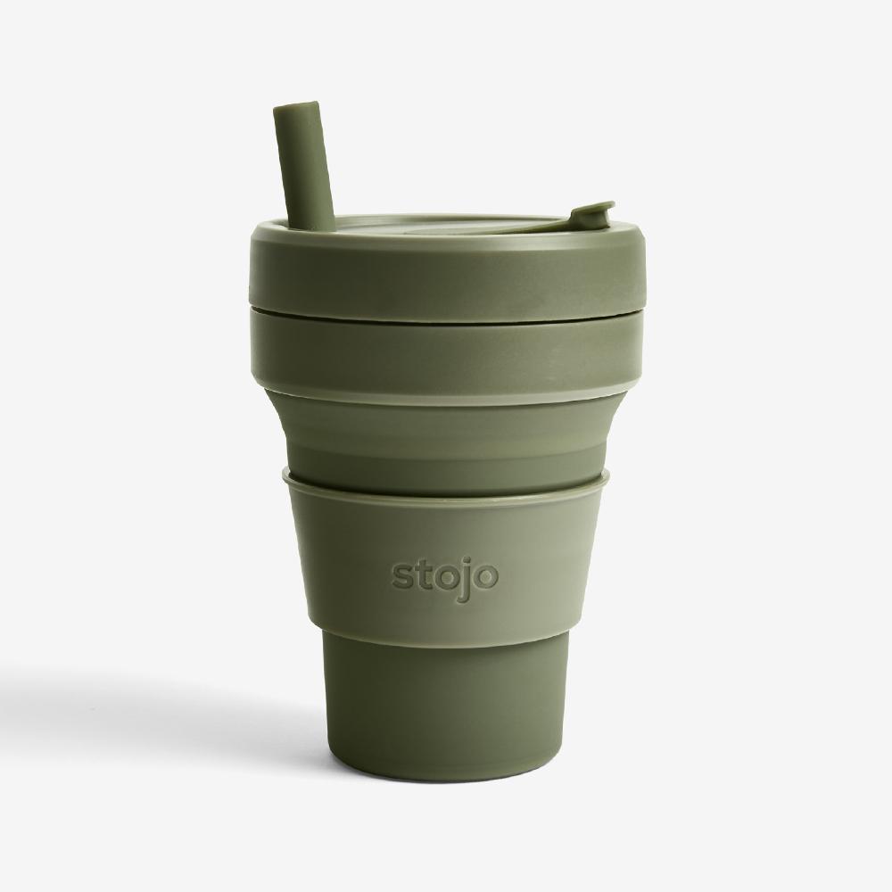 Stojo|折疊伸縮杯 16oz - 青苔綠