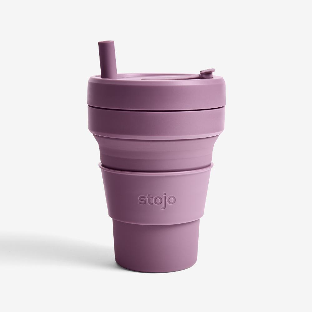 Stojo 折疊伸縮杯 16oz - 李子紫