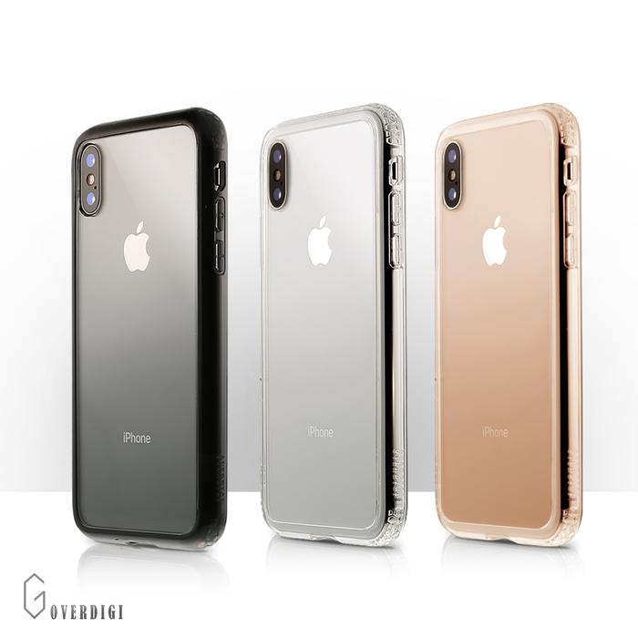 OVERDIGI|iPhoneXS 雙料防撞抗刮透殼_透明