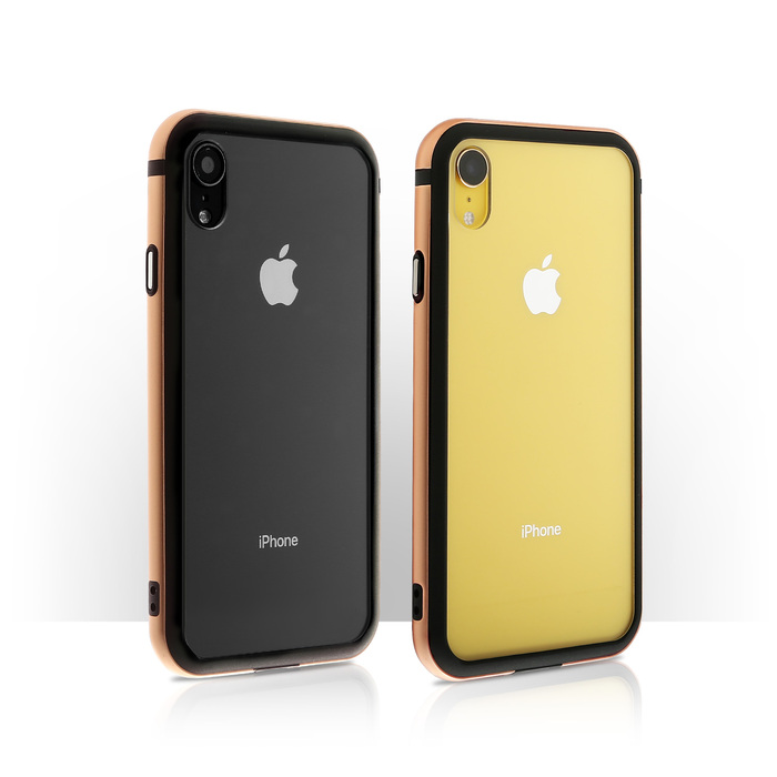 OVERDIGI|iPhoneXR 雙料防撞減震鋁合金邊框