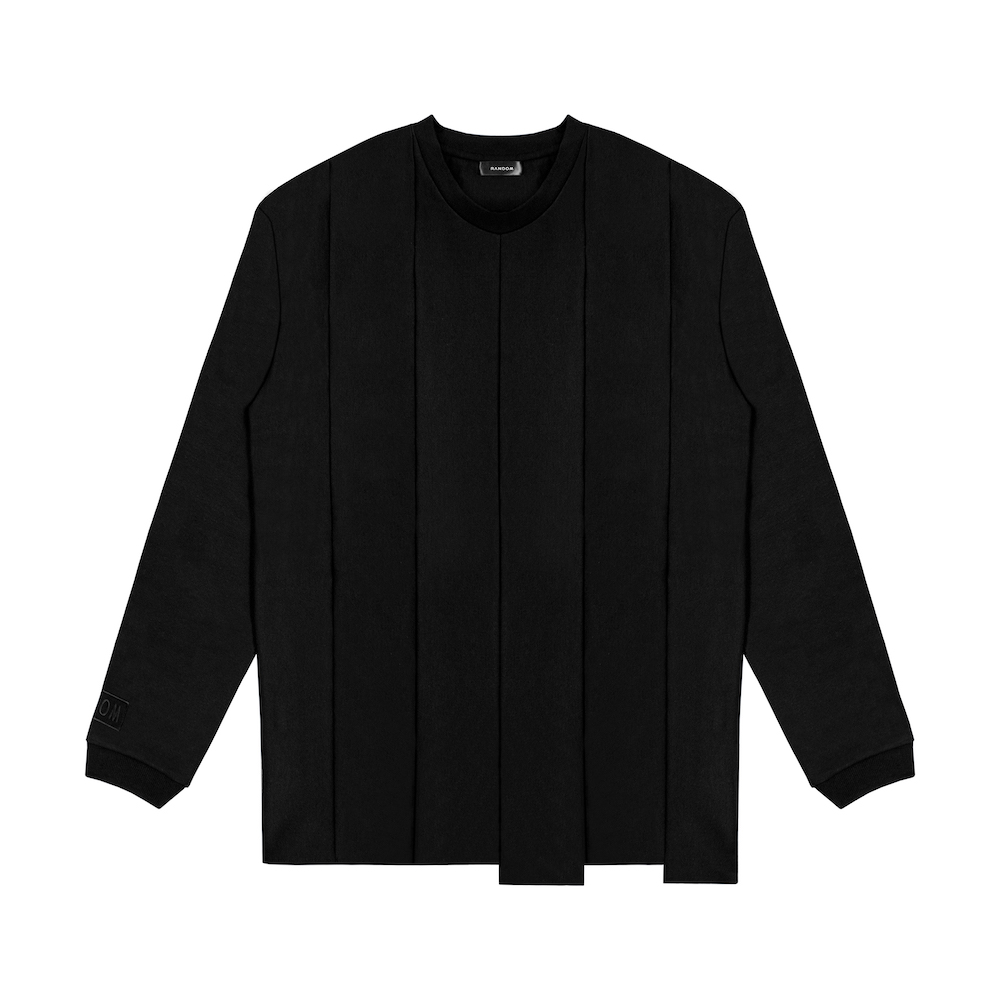 RANDOM|Asymmetric Long Sleeve (黑/白)