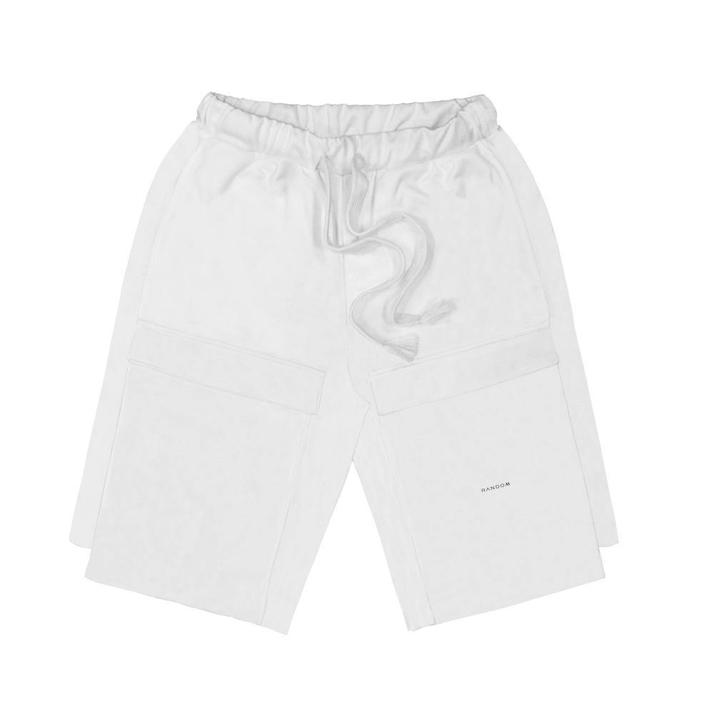 RANDOM|Big-Pocket Shorts (黑/白)