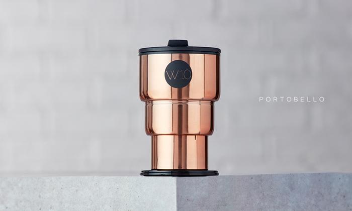 (複製)W10不鏽鋼折疊隨身杯-GOLBORNE消光黑