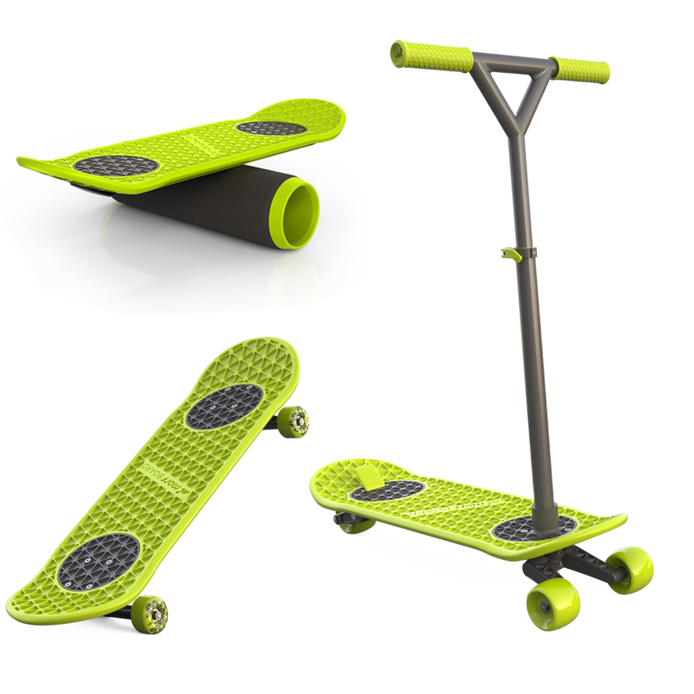 MorfBoard │多功能2 in 1 滑板 / 滑板車+平衡滾筒