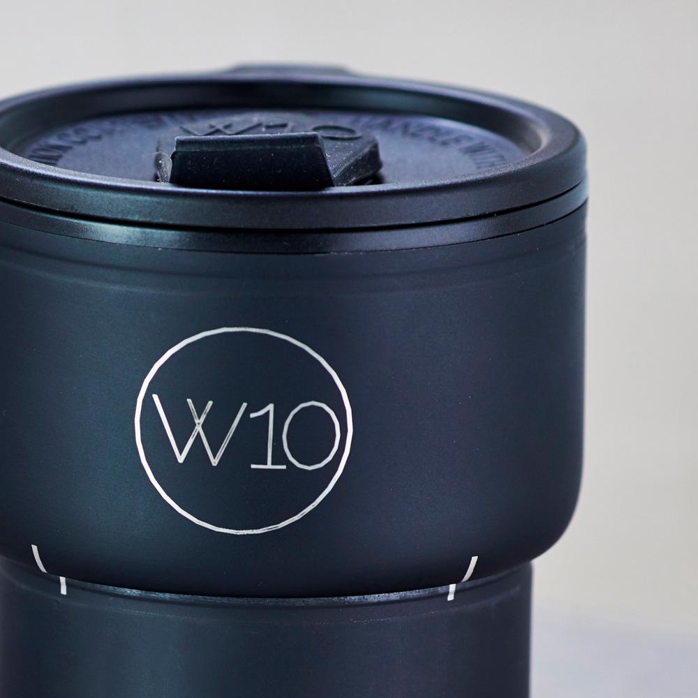 W10│不鏽鋼折疊隨身杯 - GOLBORNE 消光黑