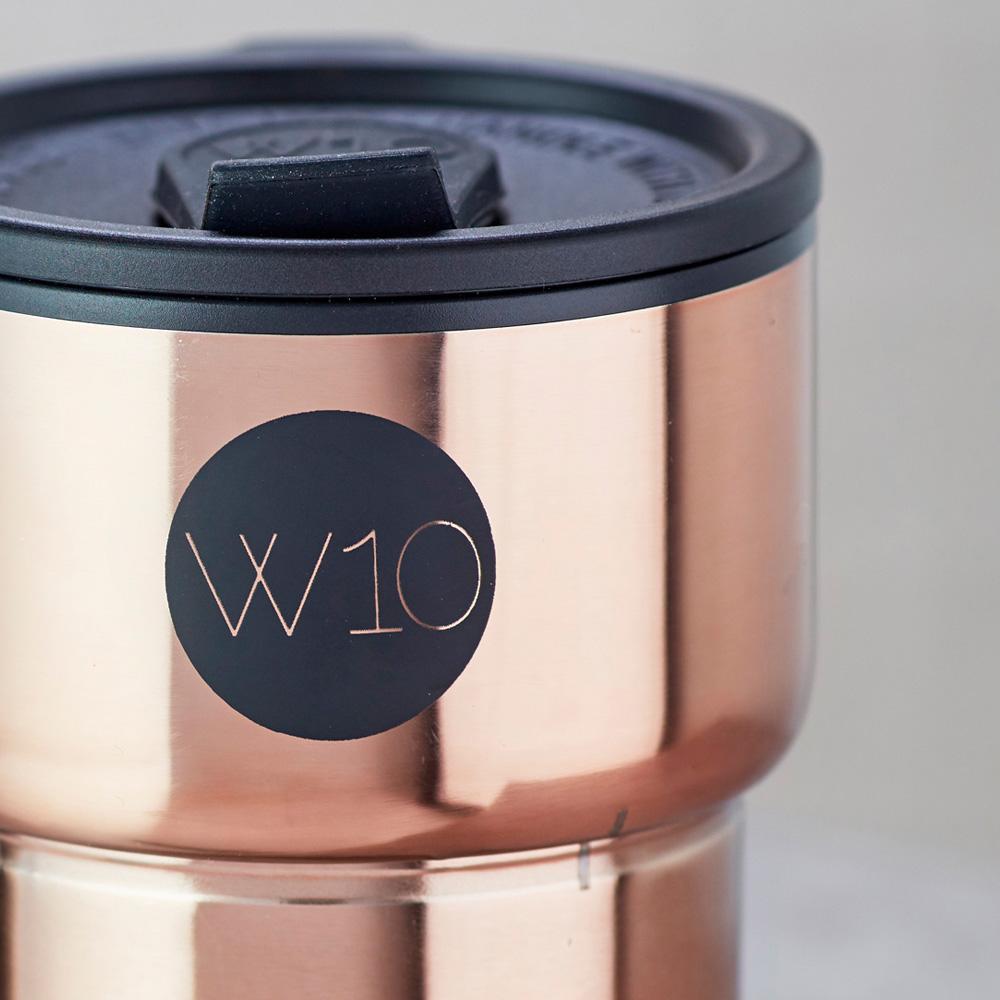 W10│不鏽鋼折疊隨身杯 - PORTOBELLO 玫瑰金
