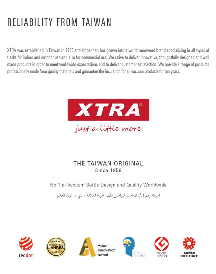 【集購】XTRA│GRANDE 不銹鋼保溫壺 900ml