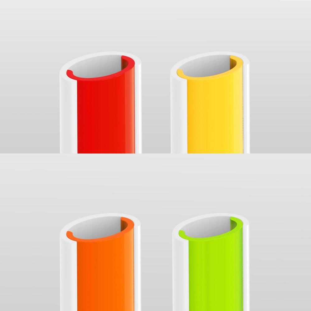 SLIDERSTRAW│可拆式環保吸管 4色組(21.5cm)