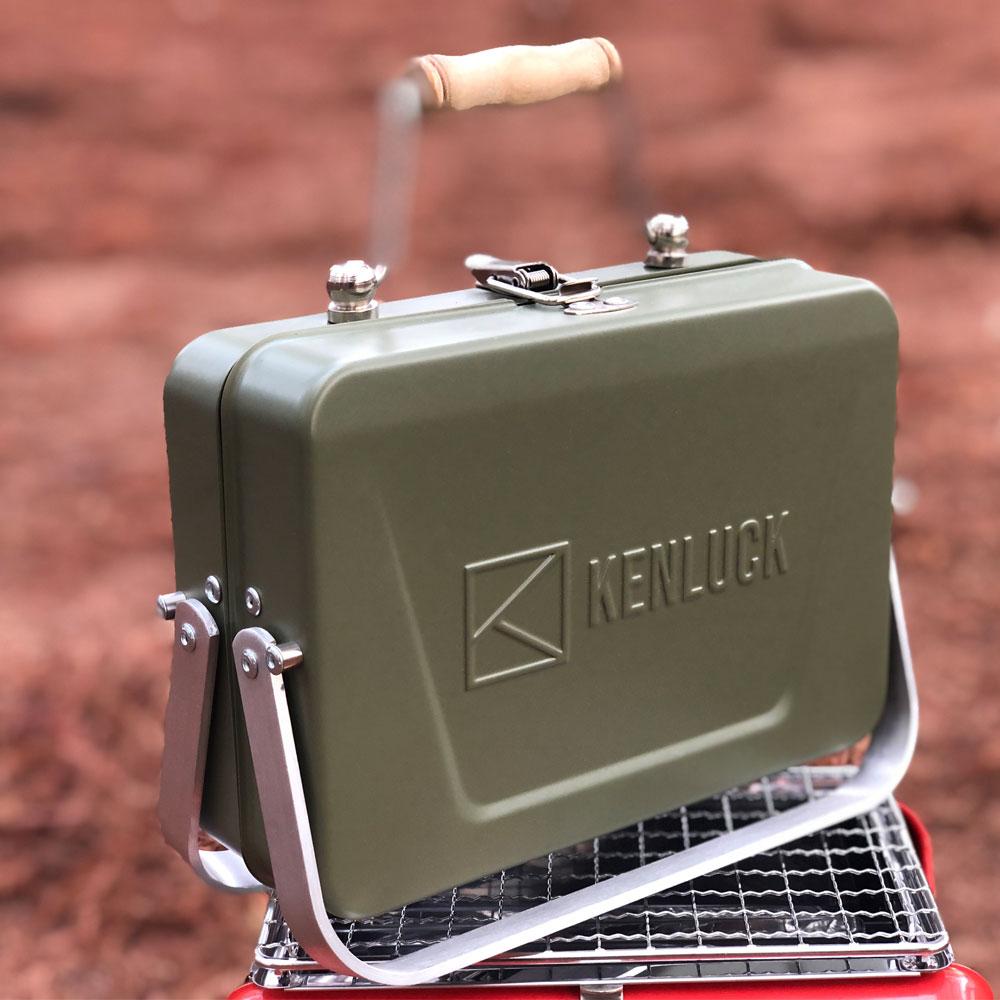KENLUCK|Mini Grill 迷你攜帶型烤肉架 史丹綠