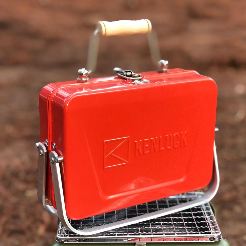 KENLUCK|Mini Grill 迷你攜帶型烤肉架 桔橙紅
