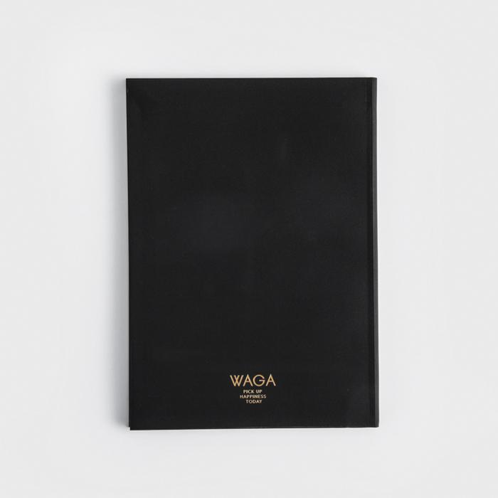 WAGA|WAGA 設計風潮 112p 石頭筆記本│墨黑│單品