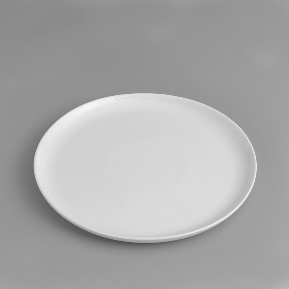 WAGA|日式 淨白線雕 26.5cm 陶瓷圓盤|單品
