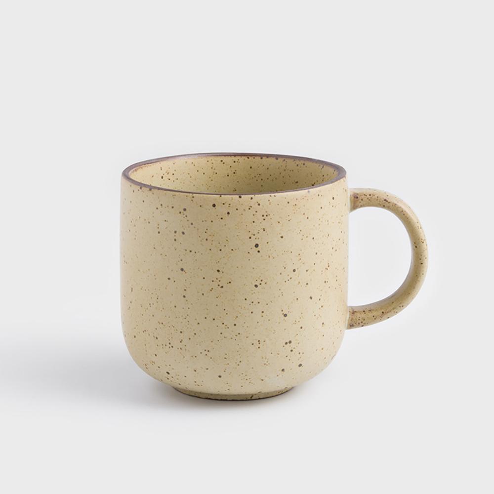 WAGA|日式 柴燒手作 300ml 陶瓷馬克杯 |米黃|單品