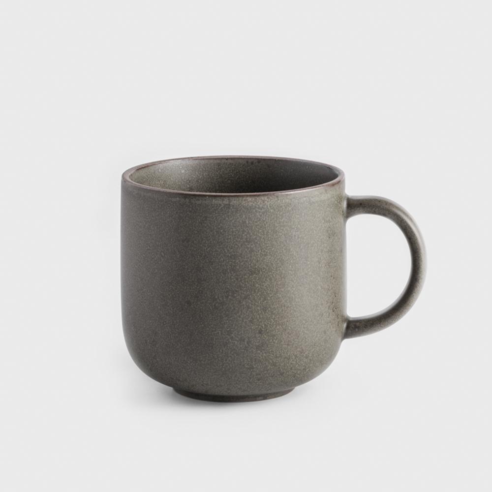 WAGA|日式 柴燒手作 300ml 陶瓷馬克杯 |軍綠|單品