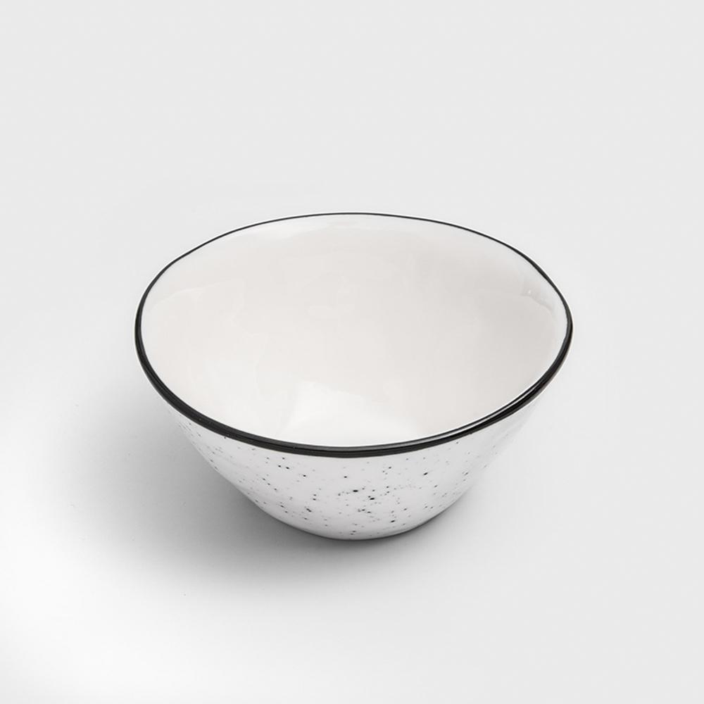 WAGA 日式 墨灑釉燒 12cm 陶瓷圓碗 │單品