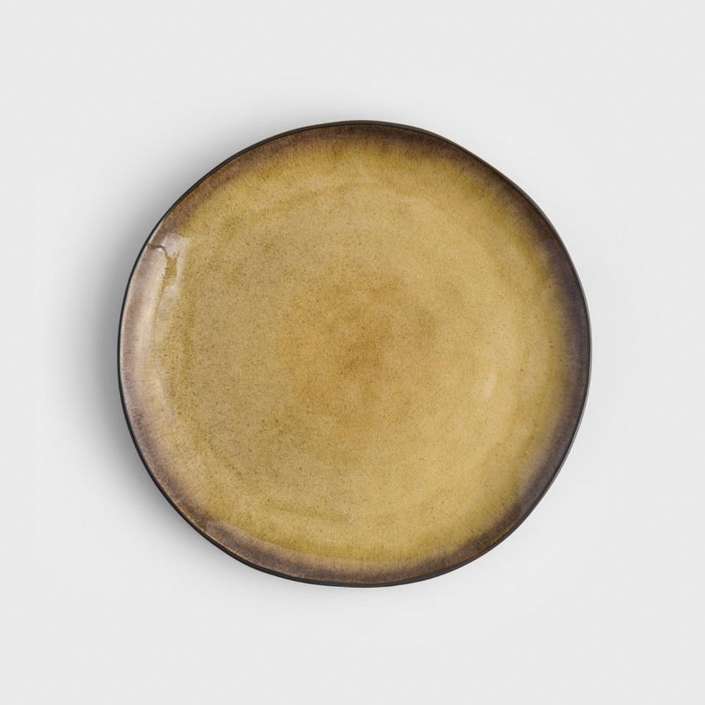WAGA 歐式 冰裂手捻 20m 陶瓷圓盤 焦黃 單品