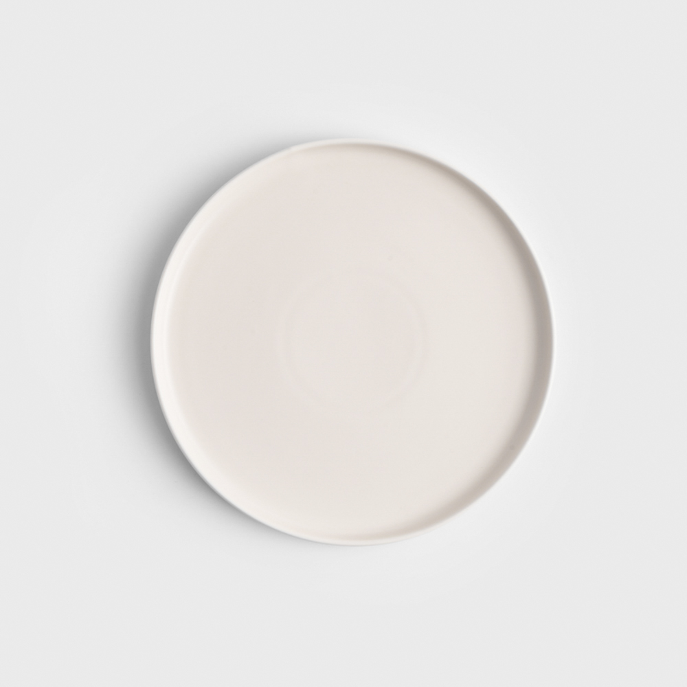 WAGA|日式 啞光粉釉 25cm 陶瓷淺盤|象牙白│單品