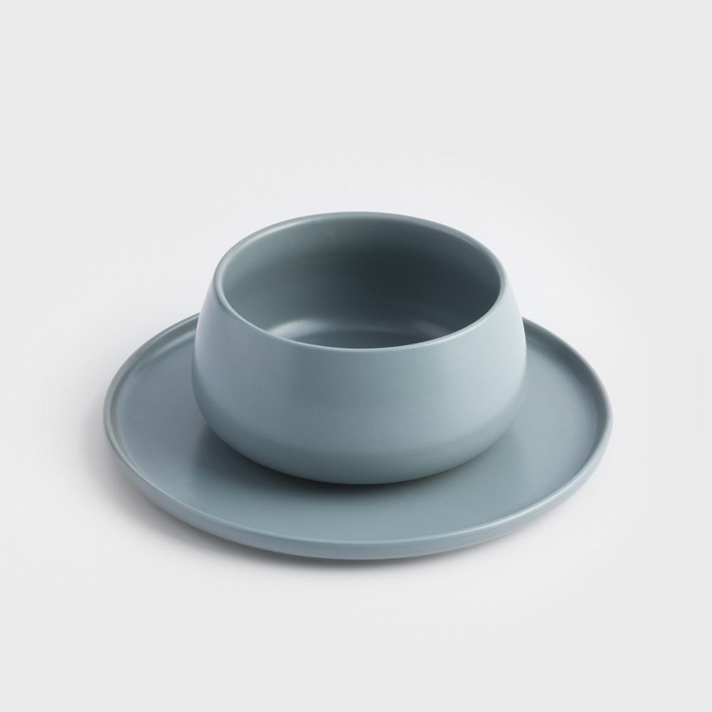 WAGA|日式 啞光粉釉 16cm 陶瓷沙拉碗|深藻綠│單品