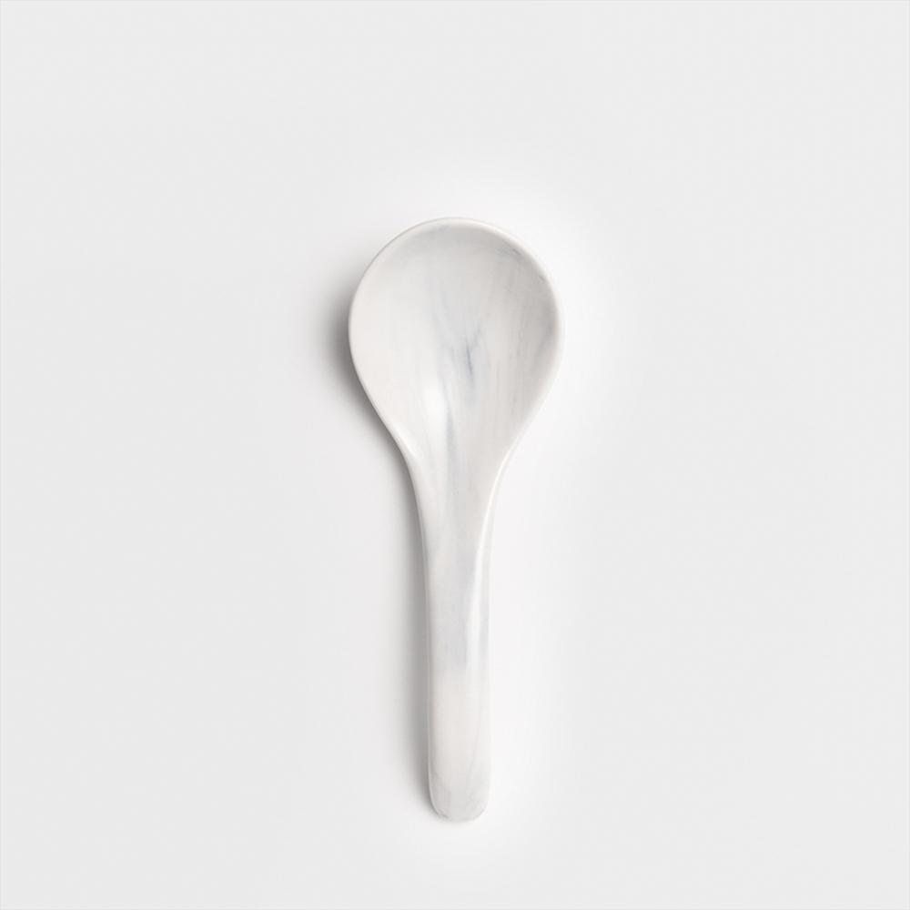 WAGA|歐式 時尚大理石雲紋 12cm 釉下彩陶瓷湯匙|單品
