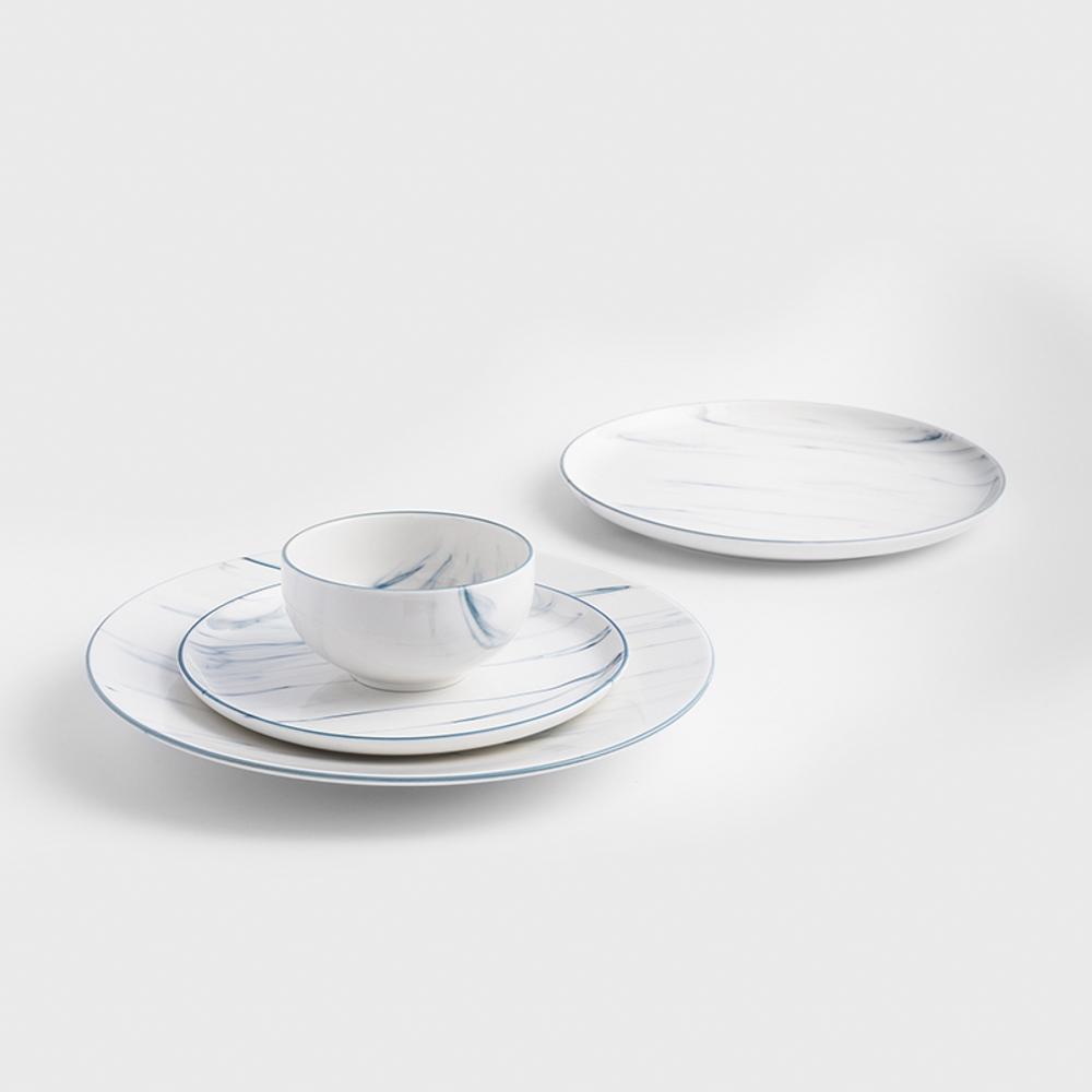 WAGA|歐式 時尚大理石雲紋 11cm 釉下彩西式陶瓷碗|單品