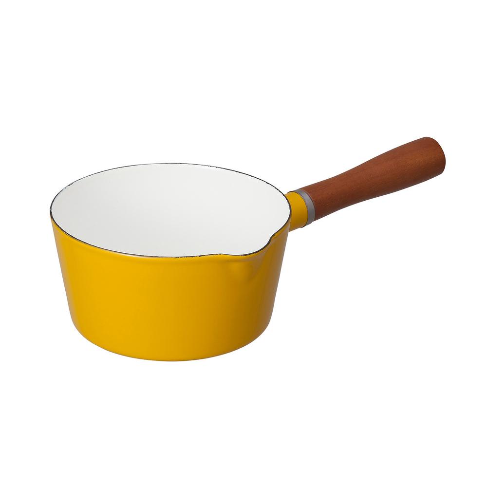 CB JAPAN | 北歐系列 琺瑯原木單柄牛奶鍋 | 四色可選 | 單品