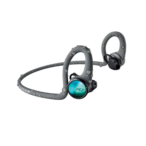繽特力 Plantronics|BackBeat FIT 2100藍牙運動耳機-電光冒險灰