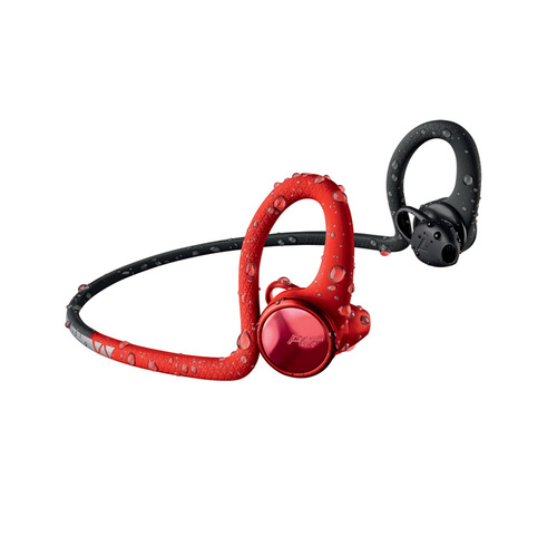 繽特力 Plantronics|BackBeat FIT 2100藍牙運動耳機-電光魅力紅