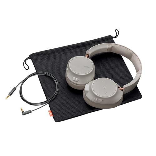 繽特力 Plantronics|BackBeat GO 810 主動降噪藍牙音樂耳機 象牙白