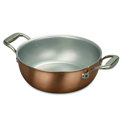 比利時FALK|紅銅料理燉鍋24cm(含鍋蓋)-時尚款(湯鍋/炒鍋/醬汁鍋)