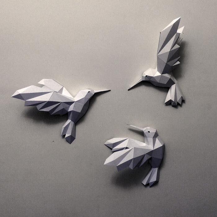 匠紙|蜂鳥(壁飾wall decoration)