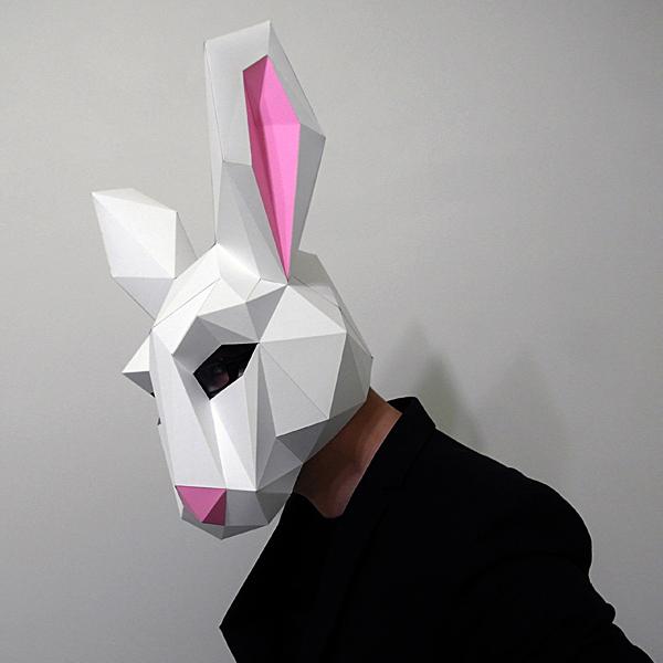 匠紙|極簡兔子(面具mask)