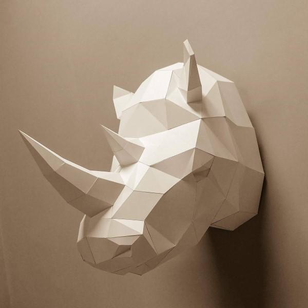 匠紙|犀牛(壁飾wall decoration)