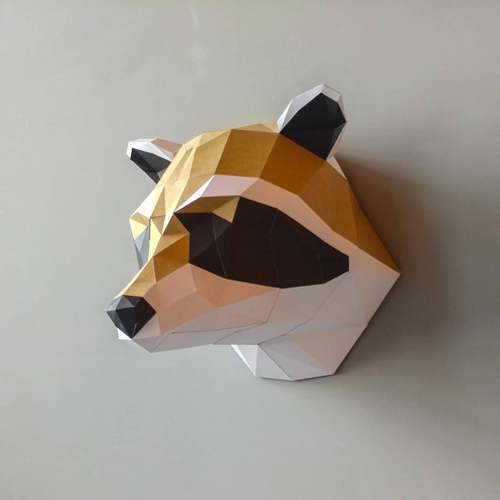 匠紙 浣熊(壁飾wall decoration)