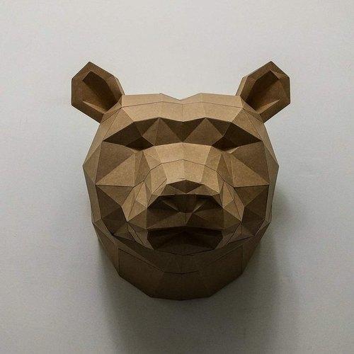 匠紙 棕熊(壁飾wall decoration)