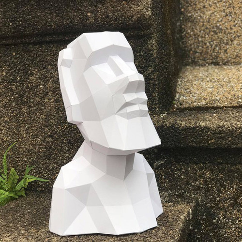 匠紙|淡定摩艾(擺飾paper sculpture)